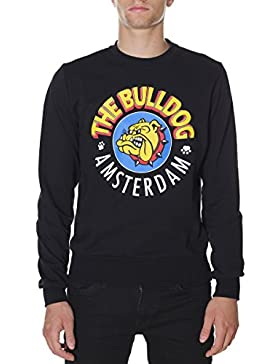Felpa The Bulldog Amsterdam TBDA002 Felpina Cotone Made in Italy Nero, XL MainApps