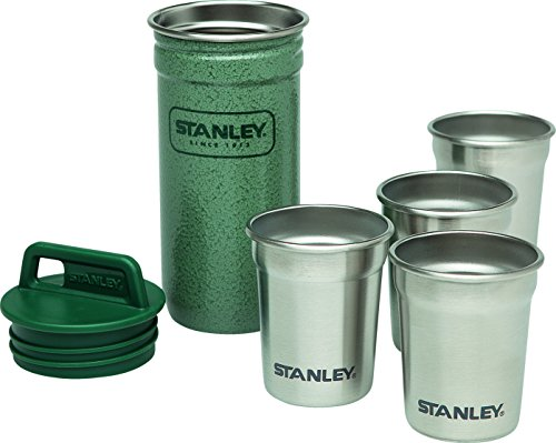 Stanley Trinkbecher Adventure Packable Shot Glasses Set - Frasco, color verde, talla standard width=