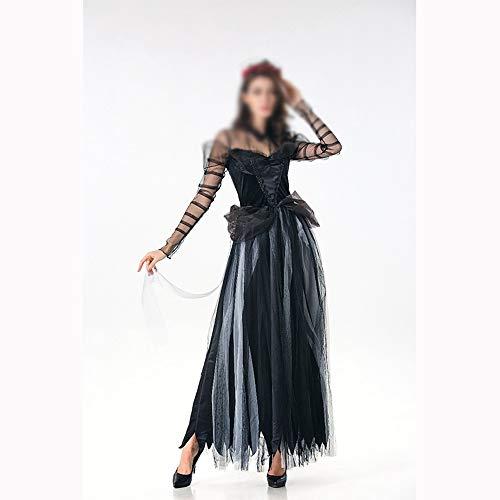 QUJISIBAIH Kostüme Cosplay Scary Kostüm Halloween Kostüm Sexy Lace Women Soft Dress(Black,One-Size)
