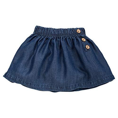 Pinokio - Petit Lou - Baby Rock Mädchen - 100% Baumwolle, Jeansrock Dunkelblau - Röckchen für Mädchen - Skirt Leicht für Frühling/Sommer (86 cm, Duneklblau)