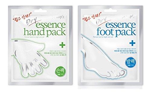 Petitfée - Dry Essence Hand Pack + Foot Pack Set - Neuer Maniküre / Pediküre Beautytrend 2016 - Trockene Handmaske mit Aloe Vera + Trockene Maske für die Füße