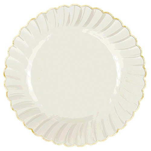 amscan-reusable-party-border-scalloped-edges-premium-tableware-pack-of-10-gold-white-10-x-10