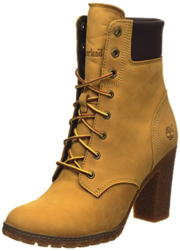 Timberland Ek Glancy 6In, Scarpe a Collo Alto Donna, Giallo (Wheat), 39 EU