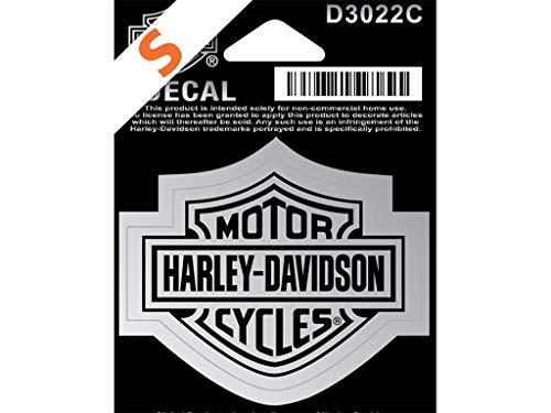 Harley-Davidson Aufkleber B&S Klein Silber - D3022C