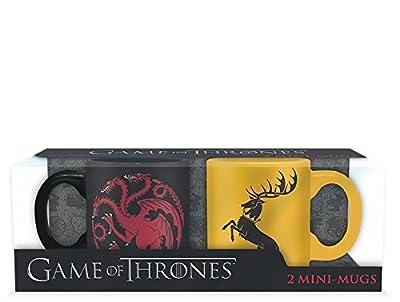 GAME OF THRONES - Set 2 mini-mugs - 110 ml - Targaryen & Baratheon x2