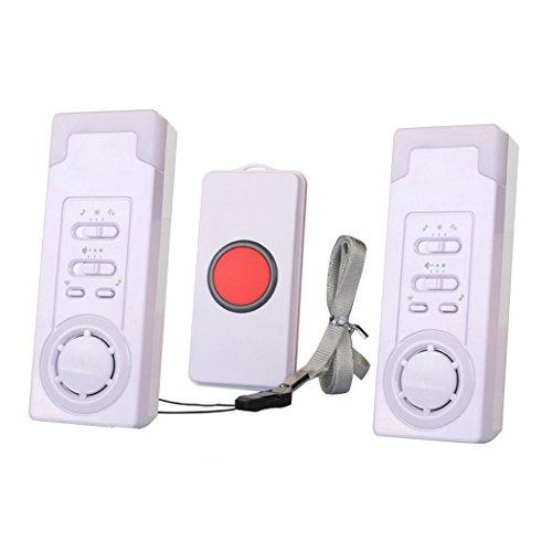 EgoEra® Maison Système d'alarme Sans Fil/Sonnette Sans Fil/Urgence Pager Alarm pour Aîné Patient, 2 en 1