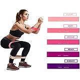 Jomore Fitnssbanden Elastiek roze Weerstandsbanden / Loop Bands Set - 5 unieke weerstandensniveau - Gymnastiekband - Fitness Elastiek - Geschikt voor Crossfit, Yoga, Blessureherstel en Pilates
