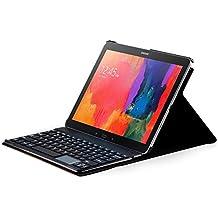 Sharon Etui de protection avec Clavier AZERTY pour Samsung Galaxy Tab PRO 12.2 Samsung Galaxy Note PRO 12.2 | Housse coque de protection avec clavier magnétique détachable Bluetooth | Avec fonction TOUCHPAD
