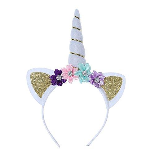 FOONEE Einhorn Horn Ohren, Kopfband, Einhorn Haarband Party Supplies Einhorn Kleine Geschenke Weihnachten Cosplay Kostüm Make-up Geburtstag Party ()