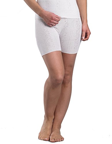 Slenderella Chilprufe Short en Cotton - Blanc CUW518