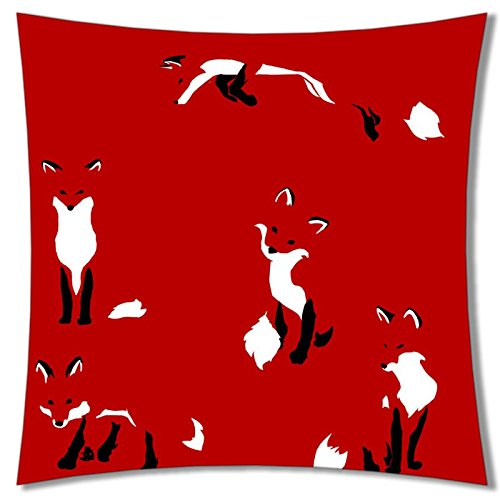 Soft Pillow case cover (Animals Dog View Friend) Pillow Covers Bedding Accessories size 40,6x 40,6cm Suitable for x-long twin-bed pc-red-584, color 28, 45 x 45 cm