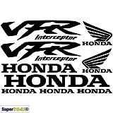 SUPERSTICKI Honda vfr Interceptor Aufkleber A1 Sponsorset 4621 ca. 30x20cm Aufkleber Bike Auto Racing Tuning aus Hochleistungsfolie Aufkleber Autoaufkleber Tuningaufkleber Hochleistungsfol