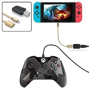 FYOUNG Controller-Konverter für Nintendo Switch, unterstützt Controller für PS3/PS4/Xbox ONE/Xbox 360 (unterstützt TV-Modus und Handheld-Modus), mit Typ-C OTG-Kabel