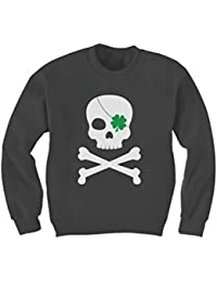 Green Turtle T-Shirts Irish Clover Skull Cool ST. Patrick's Day Kids Sweatshirt