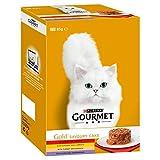 Gourmet Gold Pikante Kuchen Fleisch & Gemüse Katzenfutter-Dosen 12 x 85g