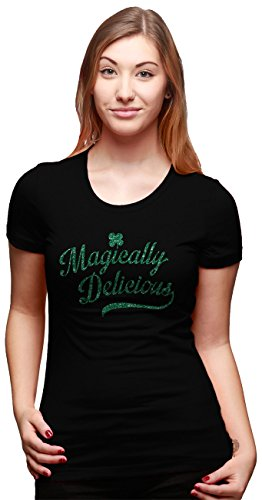 womens-magically-delicious-st-patricks-day-t-shirt-with-green-glitter-ink-black-m