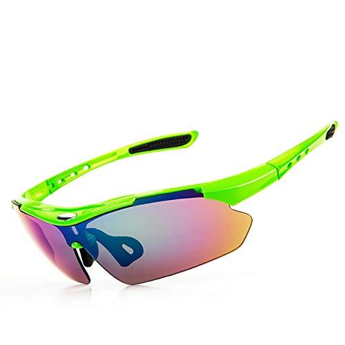 Sportsonnenbrille Fahrrad Damen Herren Outdoor Schutzbrillen Wind Und Sandbrillen Tragen Mountainbike Brillen Pc Set Auf Grün