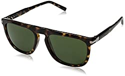 Calvin Klein Mens Ck3197s Flat Top Square Sunglasses, Tortoise, 56 mm