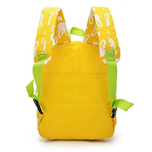 Flyingsky Rabbit Animals Kids Book Backpack Baby Girls School Bag Yellow