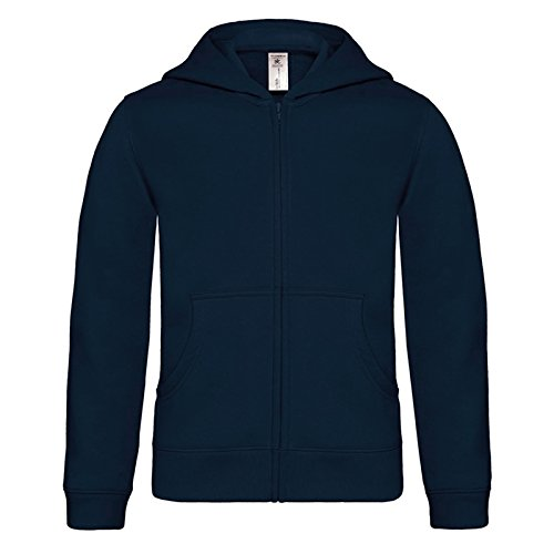B&C Collection Herren Modern Kapuzenpullover Gr. 44, navy (Champion Zip Quarter Womens)