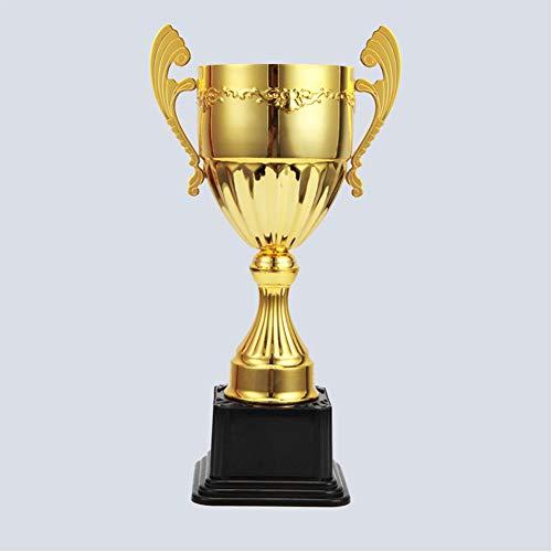 DEC Sport Awards Trophäen, hohe 39 cm, Fußball-Basketball-Turniere aus Metall, Gewinner Medaillen für Kinder und Erwachsene, Zinklegierung mit Kunststoff-Basis, Gold, Größe