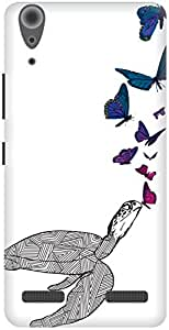 The Racoon Grip Butterfly Kisses hard plastic printed back case / cover for Lenovo A6000