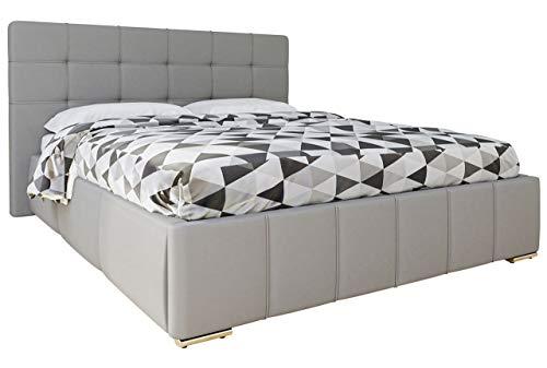 Mirjan24 Polsterbett Tailor mit Bettkasten und Lattenrost, Doppellbett, Kunstleder, 3 Größen, Farbauswahl, Stillvolles Bett (160x200 cm, Soft 020)