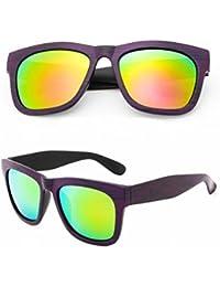 Gafas de Sol Polarizadas Gafas de Sol General de Vanguardia Unisex Gafas de Metal Morado Púrpura
