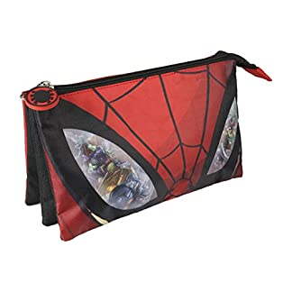 Spiderman Estuche portatodo triple, multicolor, 22 cm (ARTESANIA CERDA CD-21-2149)