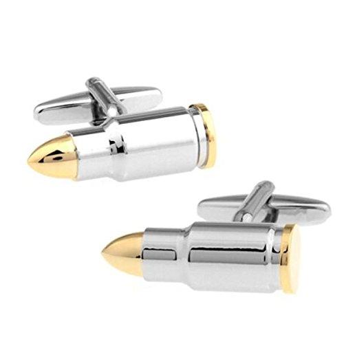 Bouton de manchette balle de fusil