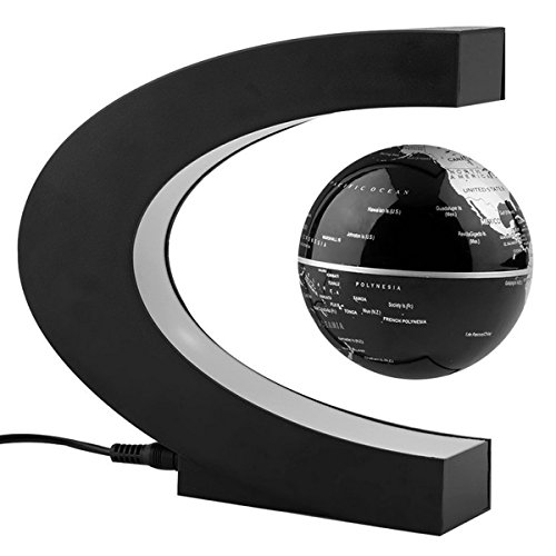 Cool desk accessories amazon arvin globe 360 led light c shape magnetic levitation floating globe world map anti gravity office table decorate mysteriously suspended in air world map gumiabroncs Image collections