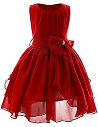 Vestito per Ragazze Abito Principessa Bambina Chiffon Irregolare Fusciacca Abiti  Principessa Formale Pageant Vacanza Nozze Damigella 82011c11eaf