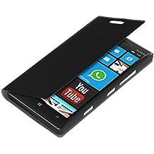 kwmobile Cover per Nokia Lumia 930 - Custodia protettiva apribile a libro Case stile flip in nero
