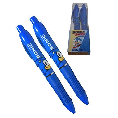 officiel-sega-sonic-le-herisson-ecrit-pen-set-2-pk-fournitures-scolaires-en-boite