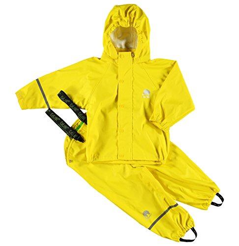 Celavi Jungen Regenmantel Gr. 130 cm, gelb