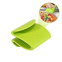 Kobwa Heat Resistant Oven Mitts, Non-slip Silicone Mini Oven Mitts Cooking Gloves Holders, Finger Protector Pinch Grips For Kitchenbakinggrilling