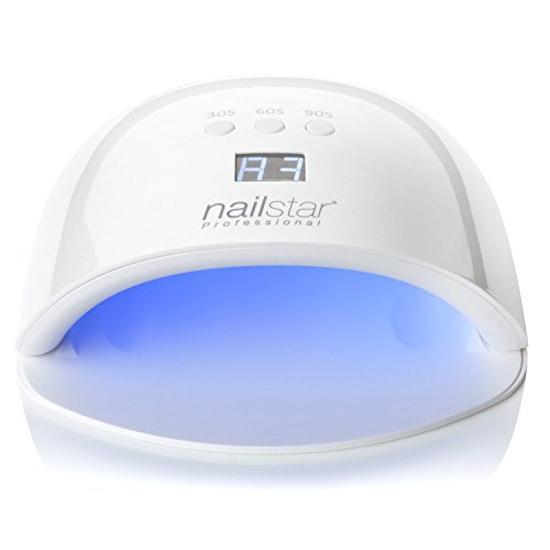 NailStar® Professional UV and LED Nail Lamp and Nail Dryer with 3 Integrated Timers and LED Display for Shellac and Gel Nails