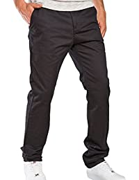 Red Bridge Herren RB-JC Straight Leg Chino Jeans Pant Schwarz