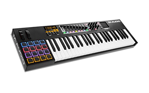 MAudio Code 49 - USB MIDI Controller mit anschlagdynamischen 49 Tasten, 16 anschlagdynamischen Trigger Pads & einem vollen Paket an Production/Performance Ready Steuerungen, VIP 3.0, Software Paket