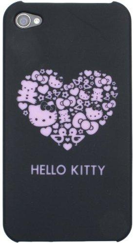 Hello Kitty Hard Case Hülle Etui für iPhone 4/4S - Schwarz Schwarz