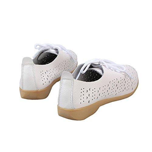 LISIANTHUS002donne Lace Up Hollow Out Flat Shoes White