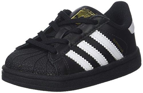 Adidas Superstar, Primeros Pasos Bebé-niños, Negro (Core Black/Footwear White/Footwear White), 24 EU