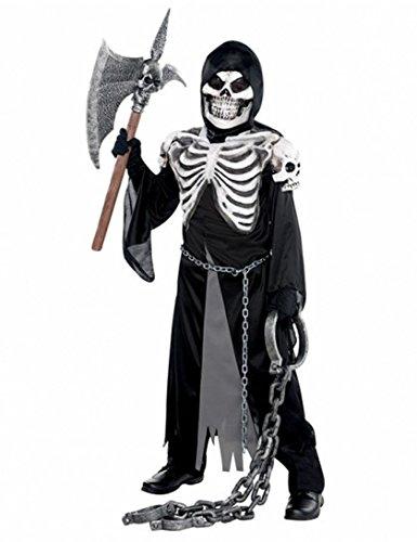 Skelettierter Gruft Wächter Sensenmann Kostüm Gr. 174