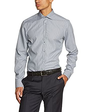 Venti Herren Slim Fit Businesshemd 001850, Gr. Kragenweite: 37, Grau (anthrazit 750)