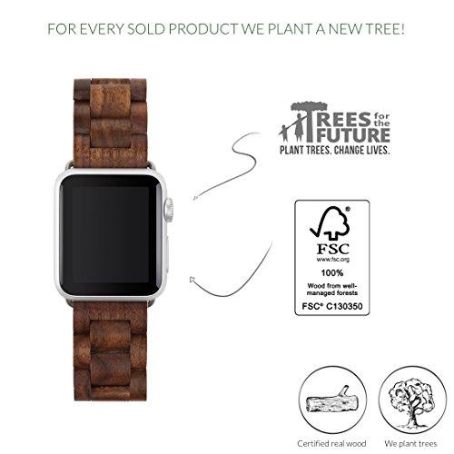 woodcessories 42mm  Woodcessories - eco146 - EcoStrap- Cinturino per Apple Watch in vero ...