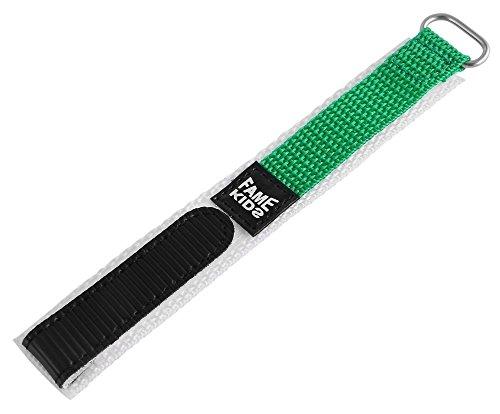 Textil Klettband Uhrenarmband Uhrenband Uhrband Ersatzband Armband grün RP8326022048 Stegbreite 22 mm, Gesamtlänge 15 cm, Bandstärke 3 mm