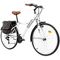 "Moma Bikes Vélo Trekking, HYBRID 28"", Aluminium, SHIMANO 18V, Suspension Avant"