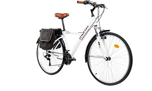 "Moma Bikes Bicicleta Trekking / Paseo  HYBRID 28\"", Alu, SHIMANO 18V, Susp. Delant."