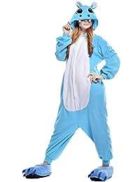 Unisex Animal Pijama Ropa de Dormir Cosplay Kigurumi Onesie Hipopótamo Disfraz para Adulto Entre 1,