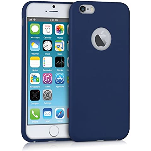 kwmobile Funda de TPU silicona chic mate para el Apple iPhone 6 / 6S (4.7) en Azul oscuro